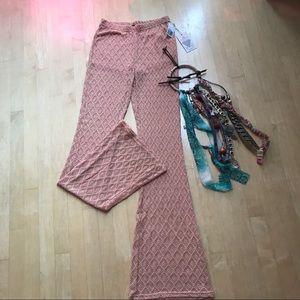 NWT | forever 21 | crochet bell bottoms